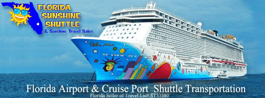 Florida Sunshine Shuttle is an Authorized Cruise Travel & Transportation Agent!