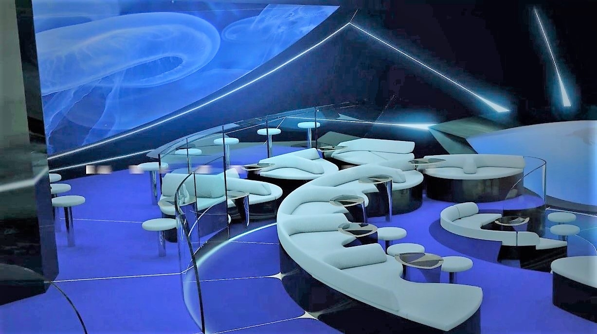 Image result for Underwater lounge on Ponant
