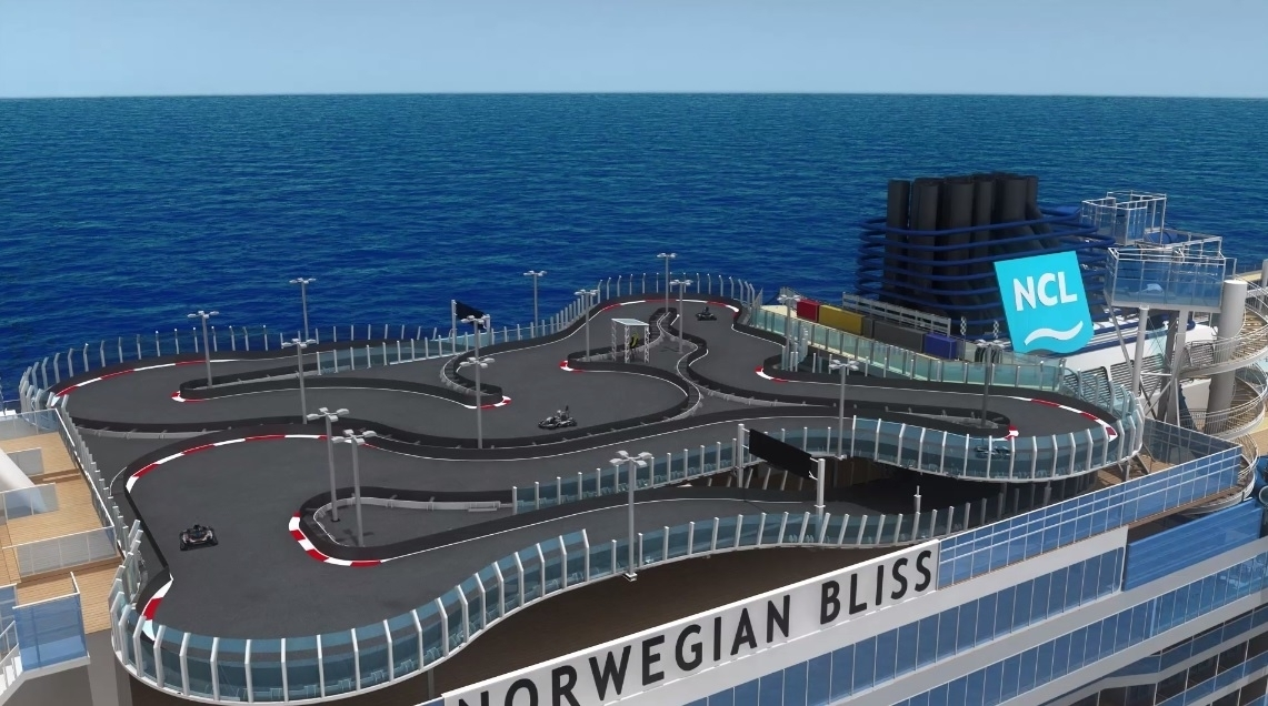 Image result for Racetrack on Norwegian Cruise Line