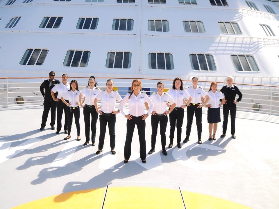 Celebrity Cruise Line women crew members
