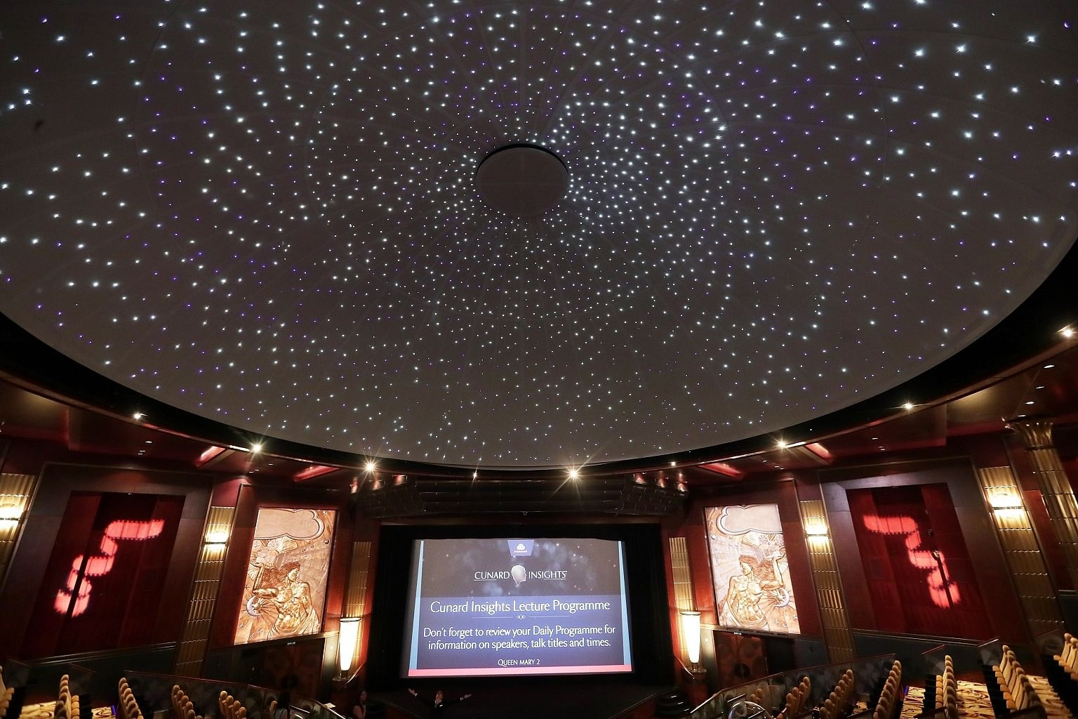 Image result for Planetarium on Cunard Line