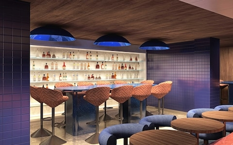 A CGI of a bar area