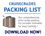 Get the famous CruiseCrazies Packing List & Tips