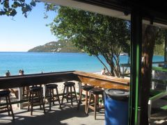 beach bar on the sand, Magen's Bay