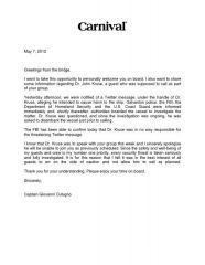 Captain's letter regarding Dr. Kruse