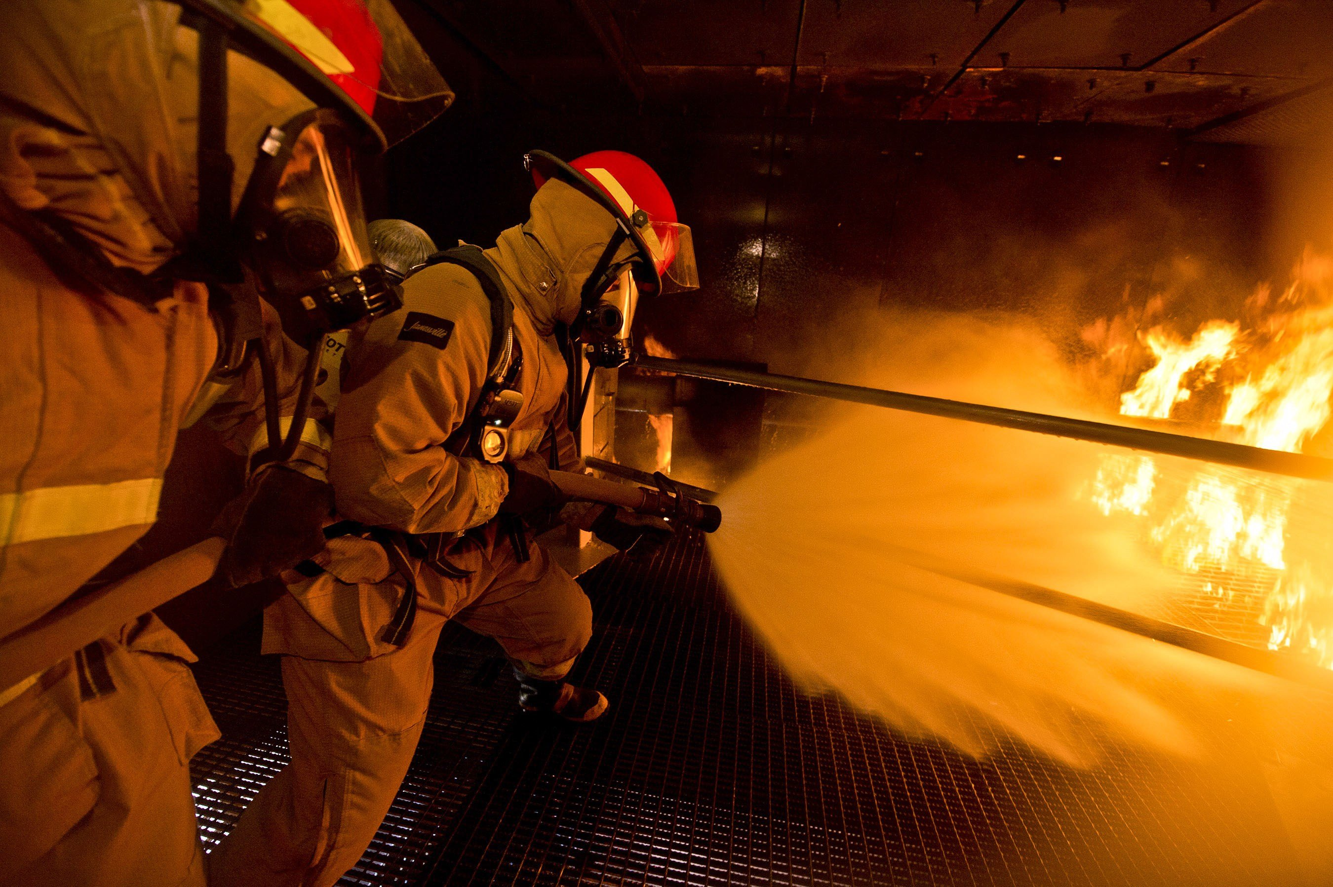 Extreme Cruise Ship Fire Training