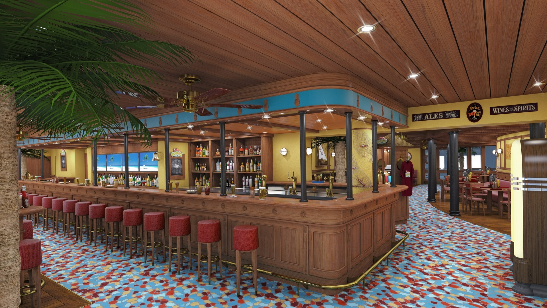 Carnival's Red Frog Pub, Onboard Crew Food, and Port Manning