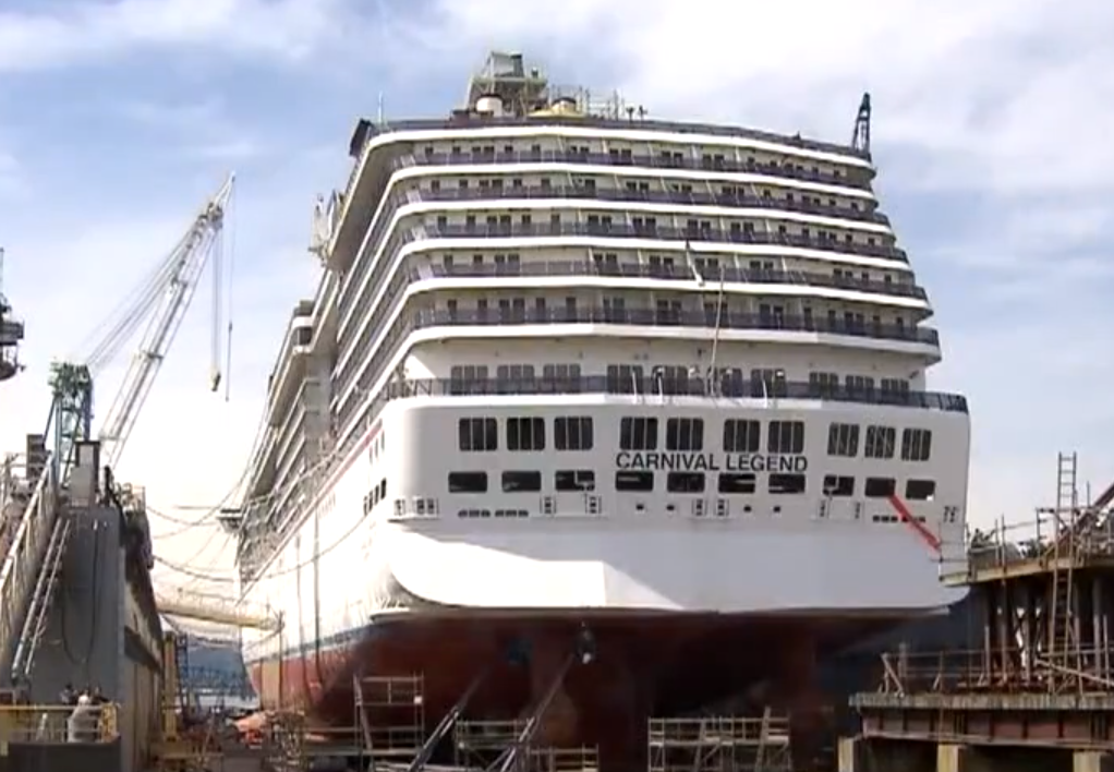 Carnival Legend Enters Drydock For A Makeover Carnival
