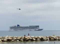 View of Norwegian Epic from Port of Cannes, France