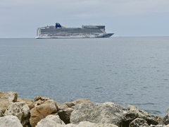 From Port of Cannes - View of Norwegian Epic