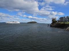 Ship docked in Bar Harbor