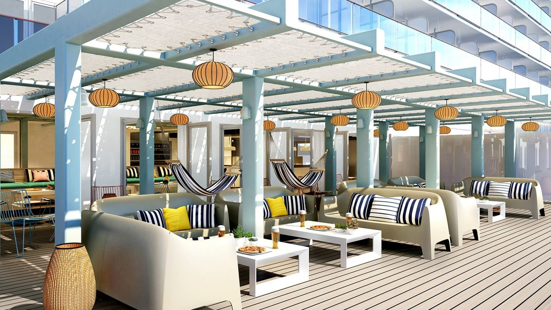A cruise ship with No buffet, No main dining room, No dining times?? Yes, you read that right!